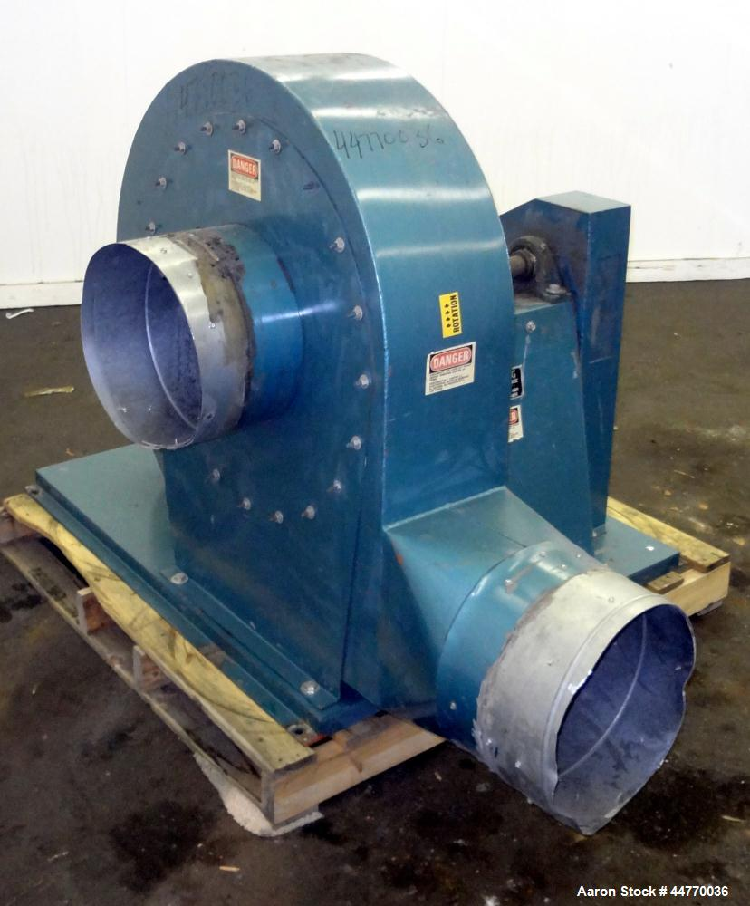 """Used- Sterling Blower, Model 13 MS, Arrangement 1A, Carbon Steel. Approximately 5000-5800 cfm. Approximately 14"""" diameter si..."""