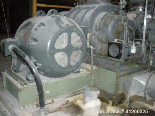 Used-Sutorbuilt Positive Displacement Blower - 18 x 30, 13.9 displacement. Driven by 200 hp General Electric motor, 440V, 3/...