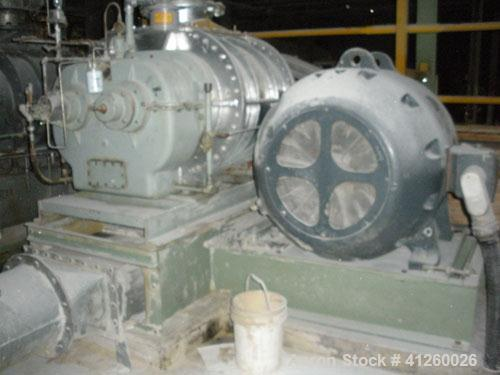 Used-Sutorbuilt Positive Displacement Blower - 18 x 30, 13.9 displacement. Driven by a 200 hp motor, 440V, 3/60. Mounted on ...