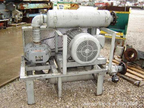 Used-40 HP Sutorbilt Blower Package, Model GAEMDPA, Size 5MP. Maximum rpm 2850. Motor is 40 hp, 1.15 S.F., 1775 rpm, 230/460...