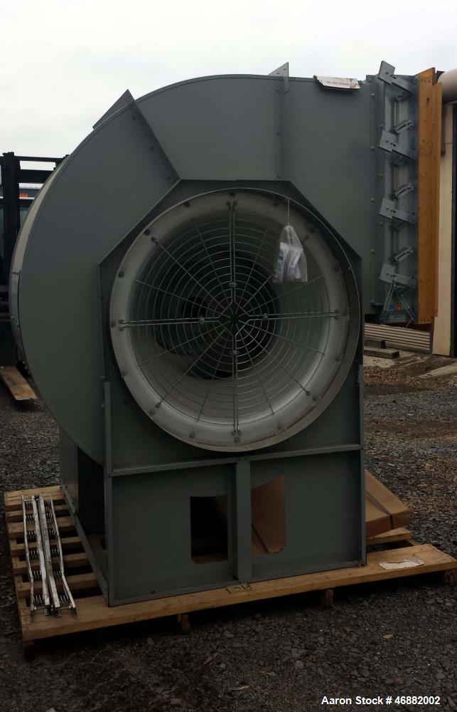 Unused- Greenheck Centrifugal Fan, Model SWB-344-250-CCW-TH-X. 25 hp motor, belt driven fan, backward-inclined centrifugal w...