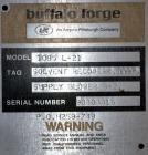 Used- Carbon Steel Buffalo Forge Blower, Model 1085 L-21
