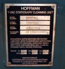 USED: Hoffman self-contained industrial vacuum cleaning system, model TV101S1. (1) T Series exhauster, model TV101S1. 4