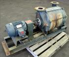 Used- Lamson Multistage Centrifugal Blower, Model 407-0-7-AD, Carbon Steel. Approximately 210 cfm. 5