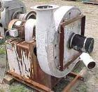 Used- Luwa Centrifugal High Pressure Blower, Model W-8751-100, 316 Stainless Steel. Approximately 1000 cfm at 20