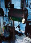 Used-BLUE ROOM, ROOTS TYPE DUST PUMP W/ MOTOR, FILTER AND ACCUMULATOR, (NO I.D. VISIBLE)