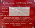 Used- Spencer Turbine Industravac Stationary Vacuum System, model SB-515B, carbon steel. (19) 5