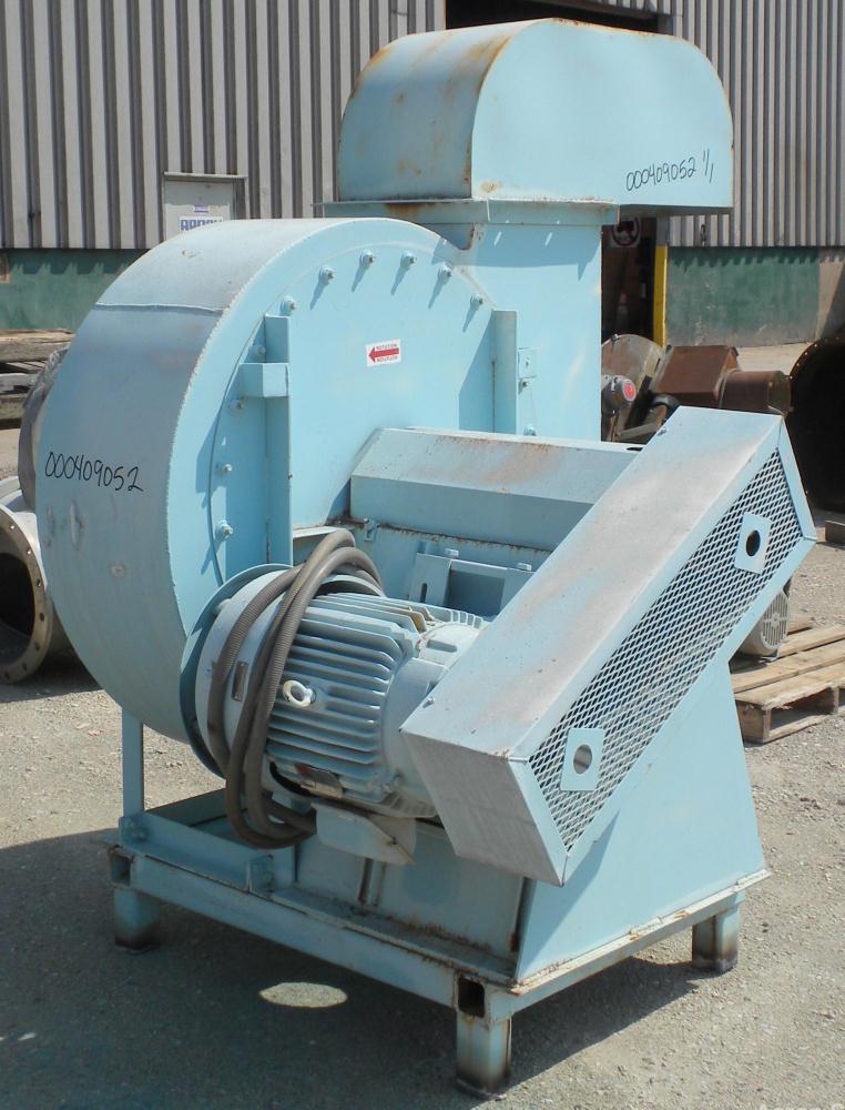 Used- Twin City Fan & Blower Industrial Fan, Size 919, Type RBA-SW, Arrangement 9L, Carbon Steel. Approximate 9062 CFM at 4....