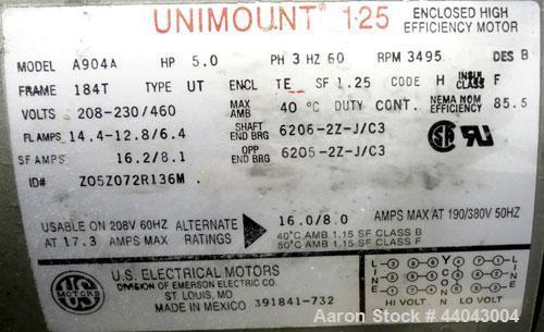 Used- Twin City Fan & Blower Turbo Pressure Blower, Size R18, Type TBR-P, Arrangement 4, Carbon Steel. Approximate 628 CFM a...