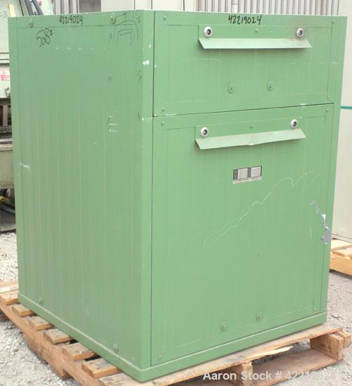 Used- Vor Offnen Filtered Package Blower, model KG-63, carbon steel. Approximate 2000 cfm. Driven by a 2.2 kw, 3/60 motor.