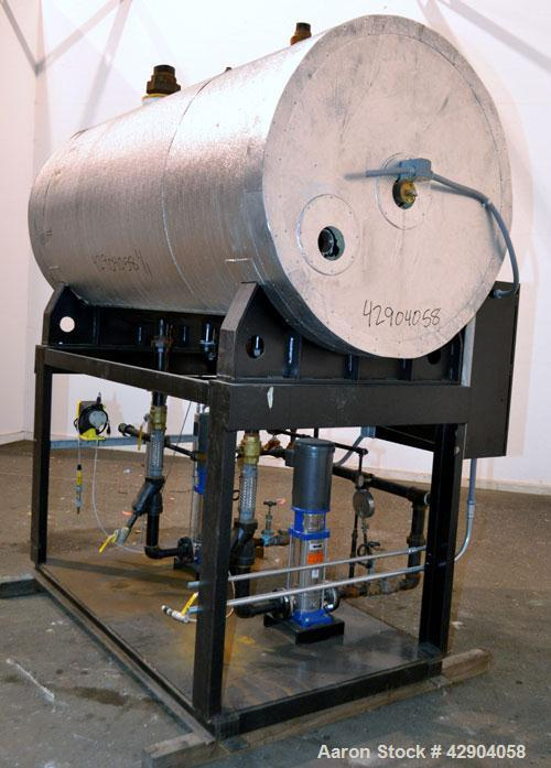 Used- Precision Boilers Deaerating Designs Duplex Boiler Feed System, Model BF500D135-3. Unit consists of (1) Horizontal tan...