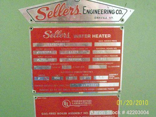 Used- Sellers Packaged Water Heater, model BT-32-360