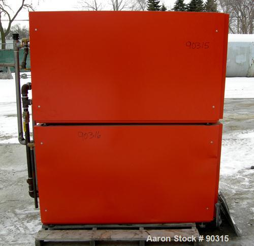 USED- Viessman Horicell Hot Water Storage Tank, 316 stainless steel. (1) 120 gallon horizontal tank, rated 150 psi. Heat exc...
