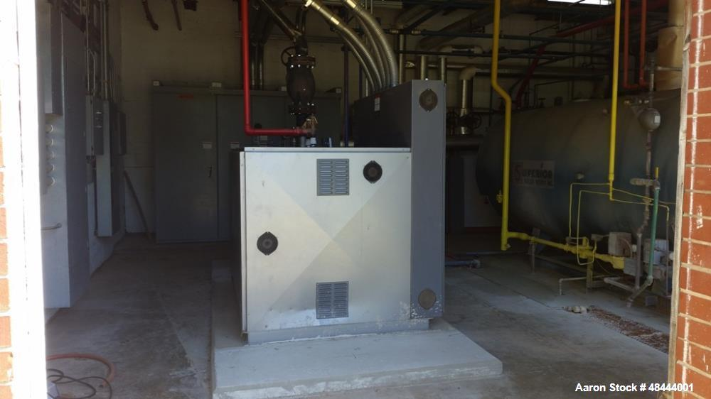 Used- Lattner Electric Boiler, Model 1400HS. 5026 lbs. max steam capacity. 150 psi, 140 hp, 480 volt, 1684 amps, 3 phase. Mf...