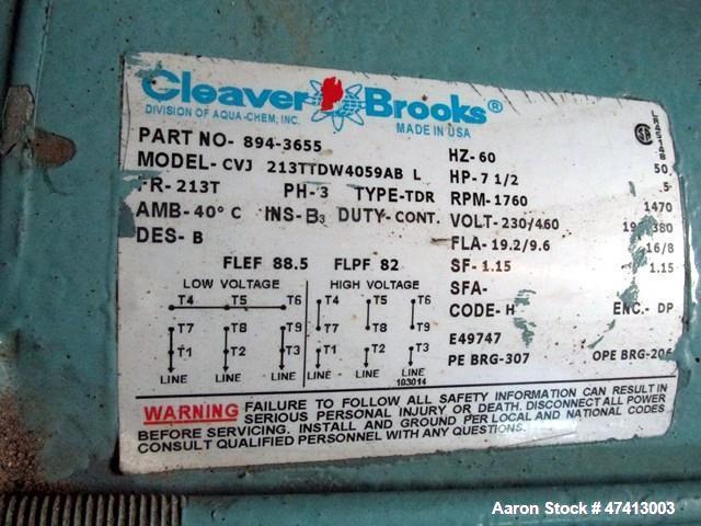 Used- Cleaver Brooks 500HP Packaged Steam Boiler