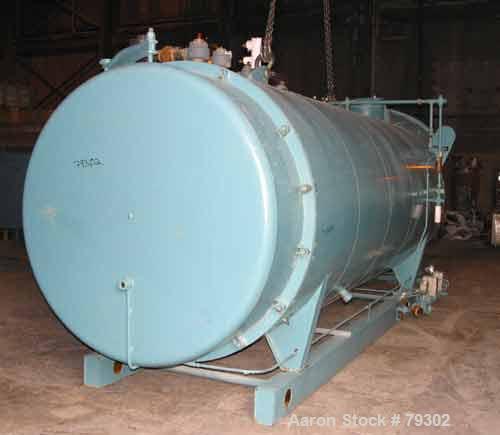 USED: Cleaver Brooks model CB1200350015 packaged firetube boiler. 350 hp, input 14,288,100 btu/hr. 12075 #/hr of steam at 21...