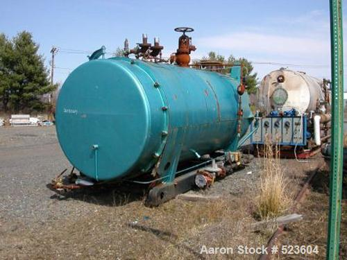 USED: Cleaver Brooks fire tube boiler, 300 hp, 10,350 lbs/hour, 150 psig, model CB293-300. Rated 12,553,000 btu/hour natural...