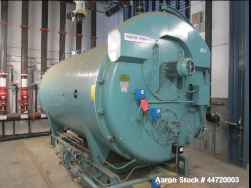 Used- Cleaver Brooks 250 HP, Model CBLE 700-250-125 4-Pass Dryback Firetube Boiler. Hydronic heating firetube boiler is desi...