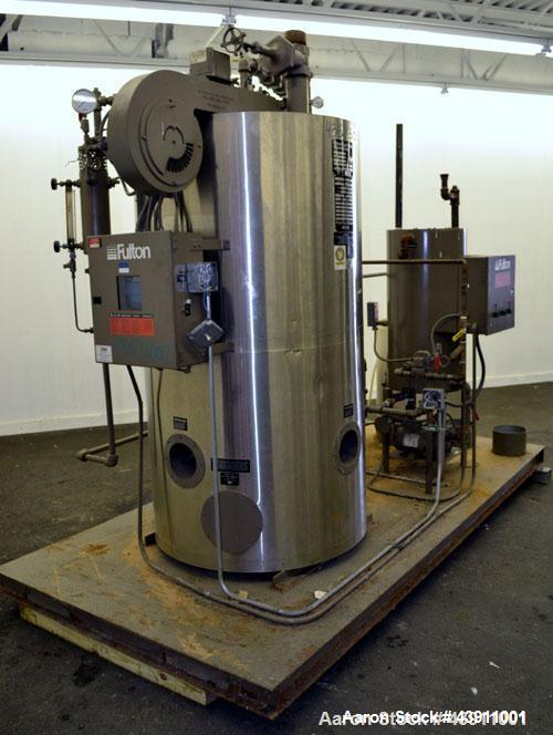 Used-Fulton Model ICS 20 Fuel Fired Vertical Tubeless Steam Boiler.  Natural gas, approximately 20 hp.  Rated 690 pounds of ...