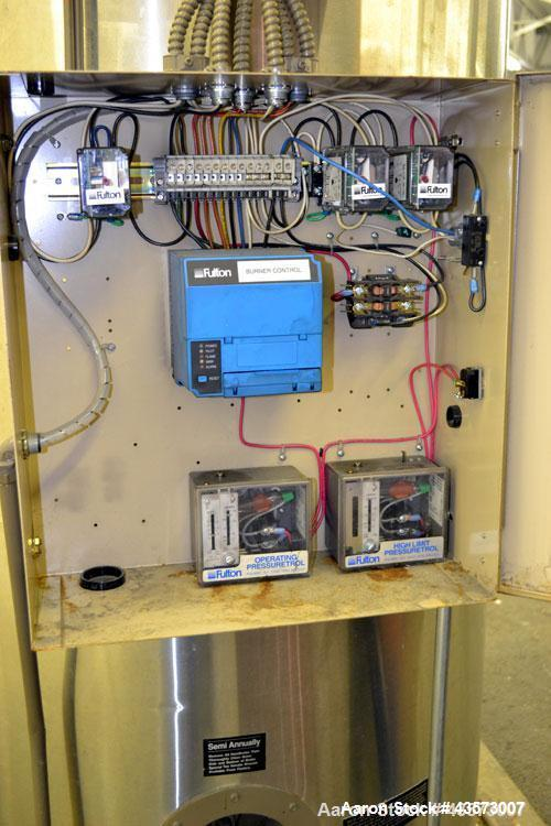 Used- Fulton Model ICS 20 Fuel Fired Vertical Tubeless Steam Boiler. Natural gas, approximate 20 hp. Rated 690 pounds of ste...