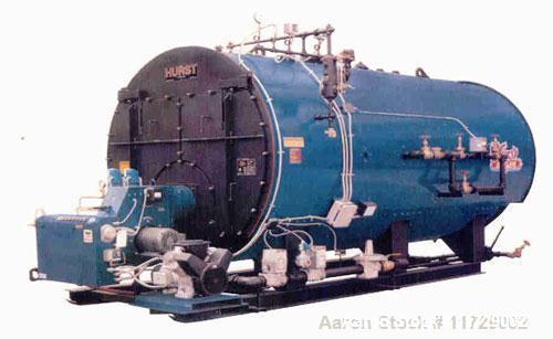 Unused-New 60 hp Hurst Semi-Wetback 3 Pass Package Firetube Boiler. 150 psig, DP model S4-GP2-60-150, capable of making 2,07...