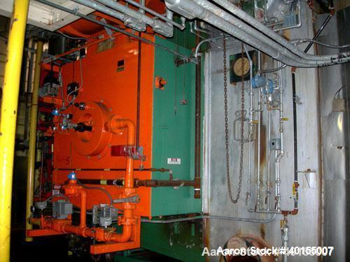 Used:  E Keeler water tube boiler, 40,000 pounds an hour at 200 psig design pressure. WWHS 494, BHS 2976. Built 1975.