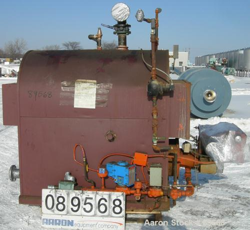 USED- Kewanee Boiler, Model M-135-KGO. 1350 MBH, 40.3 hp, 15 lb steam, heating surface 180 square feet. Max 1688 MBH. XP rat...