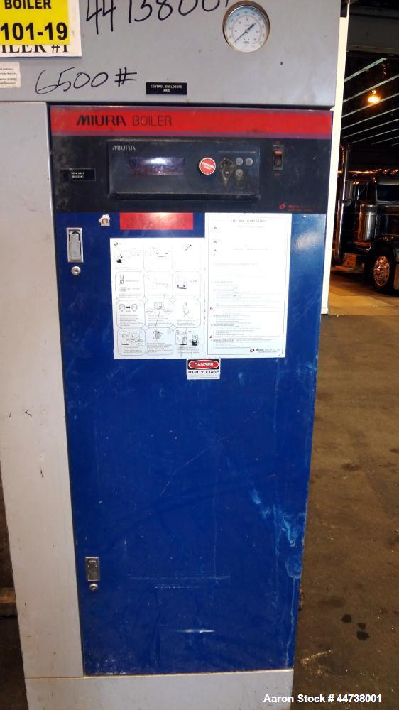 Used- Miura Natural Gas Fired Steam Boiler, Model LX-100, Serial# 46S421417. Utilization horsepower 100, heating surface 248...