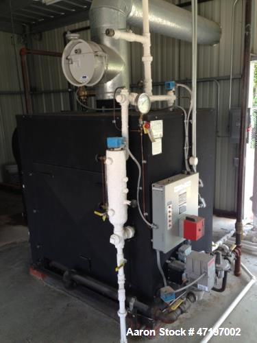 Used- Parker Boiler, Model 104-30. 30hp at 125 PSI, natural gas fired, 1.26mm btu / hr. Includes boiler feed water softener ...