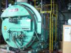 USED: Cleaver Brooks fire tube packaged boiler, 21,569 lbs/hour @ 150 psi, 500 hp, model CB400-500. Dual fuel, natural gas/o...