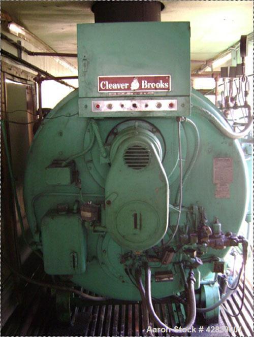 Used-Cleaver Brooks Oil Fired Boiler, Model CB 100-200.  200 Hp, four pass dryback design, 150 psig high pressure steam, 15 ...