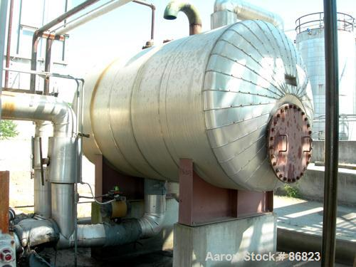 USED: First Thermal hot oil boiler, model 100-3-1-VHC-MAX-G M-N4X-T/C heater, 160 square feet heating surface, 600 deg F max...