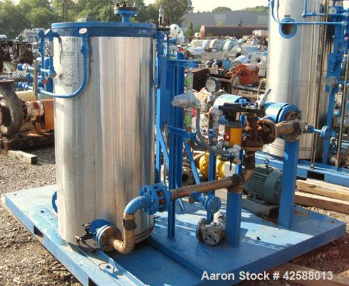 Used- Fulton Electric Thermal Fluid Heater, Model FT-0150-N. 150,000 BTU/HR. 44 kW, 150 psi working pressure. Includes (2) P...