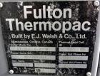 Used- Fulton Thermopac Natural Gas Boiler, Model FT-0160-C-400B. Capacity 1,600,000 BTU, rated 572 degrees F at 60 psi. Buil...