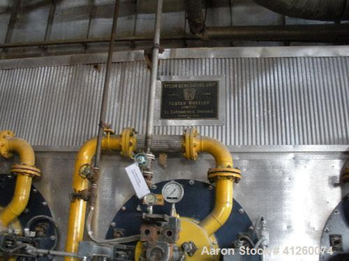 Used--Foster Wheeler Waste Heat Steam Boiler, capable of 360 mm btu/ hour, 360,000 #/hour steam. Consists of (6) Todd combus...