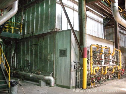 Used-Foster Wheeler Waste Heat Steam Boiler. Capable of 360 mm btu/ hour, 360,000 #/hour steam. Consists of (6) Todd combust...