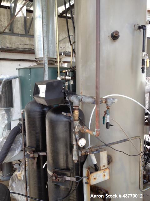 Used-Clayton Industries Natural Gas  Boiler;  1,950,000 BTU; 48 HP; 150psig NG boiler; Serial # 126086; Group 4D;  with feed...