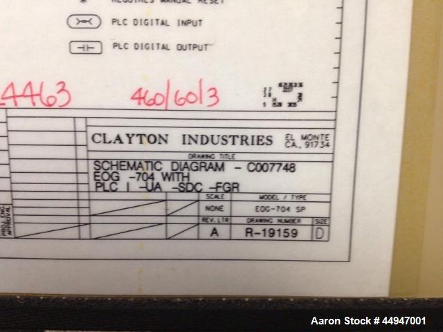 Used-Clayton Steam Generator, Model E704. 700 BHP.