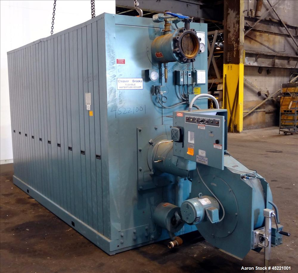 Used- Cleaver Brooks FLX Flexible Water Tube Boiler, Model FLX-700-1100-160HW