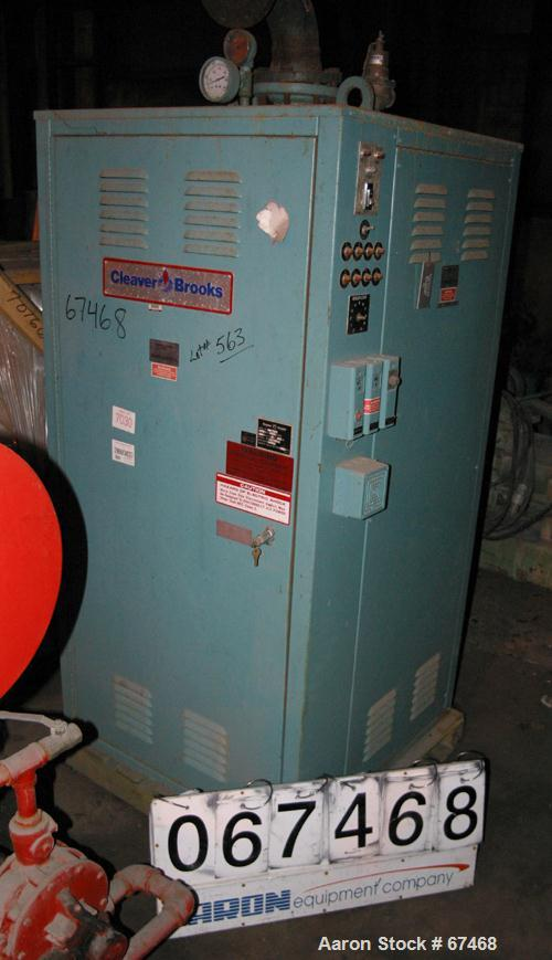 USED:Cleaver Brooks electric hot water boiler, model HW-202.768 btu/hr, 225 kw, max flow gpm 230, design pressure 160 psi,3/...