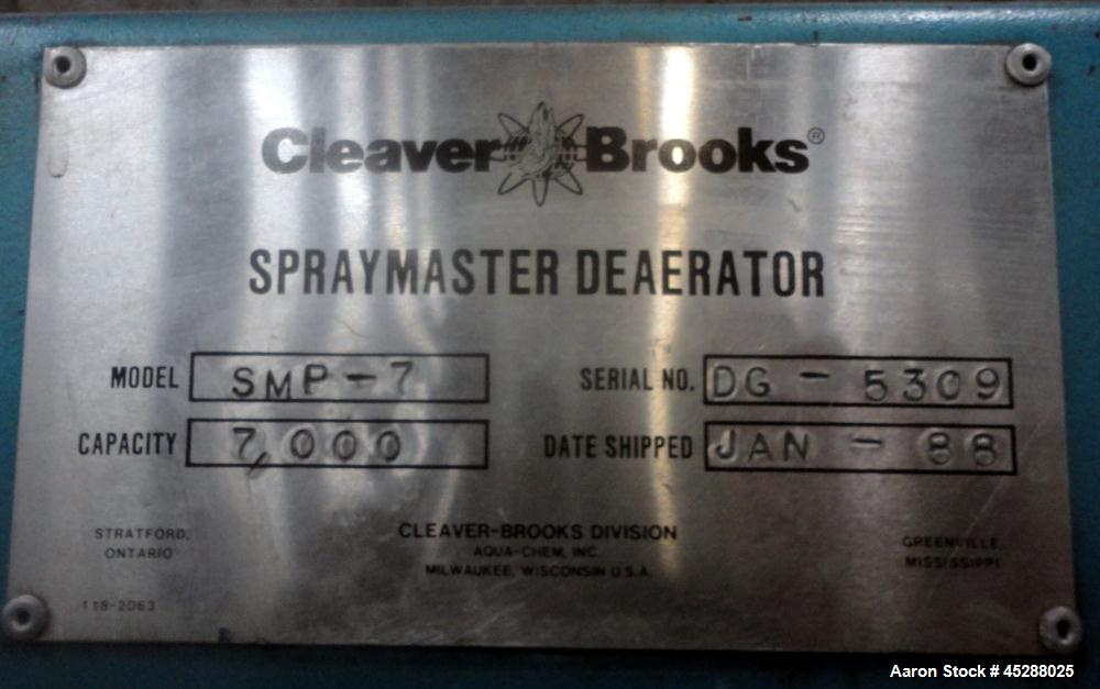 Used- Cleaver Brooks M4 Water Tube Boiler, Model M4P-700-3000, Series 700