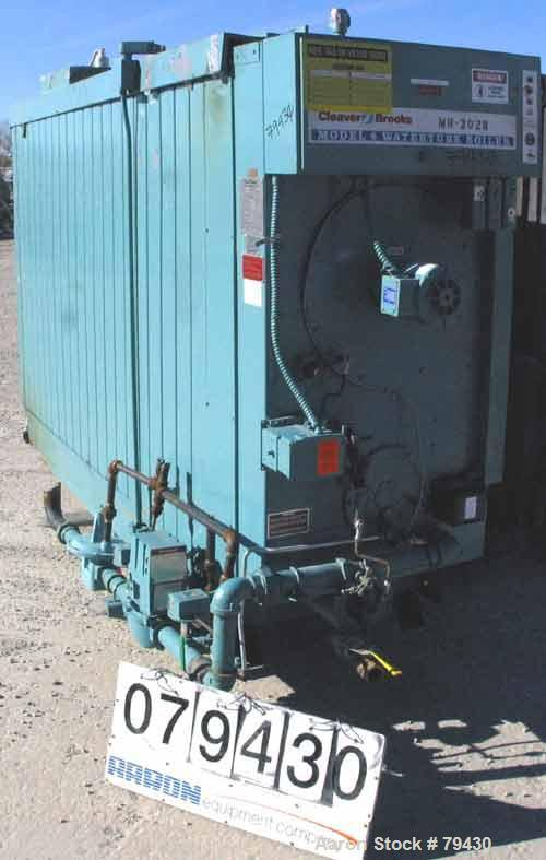 Used- Cleaver Brooks Package Water Boiler, Model M4W-5000, Series 700NG. Rated input capacity of  5,000,000 BTU/HR. Rated ou...