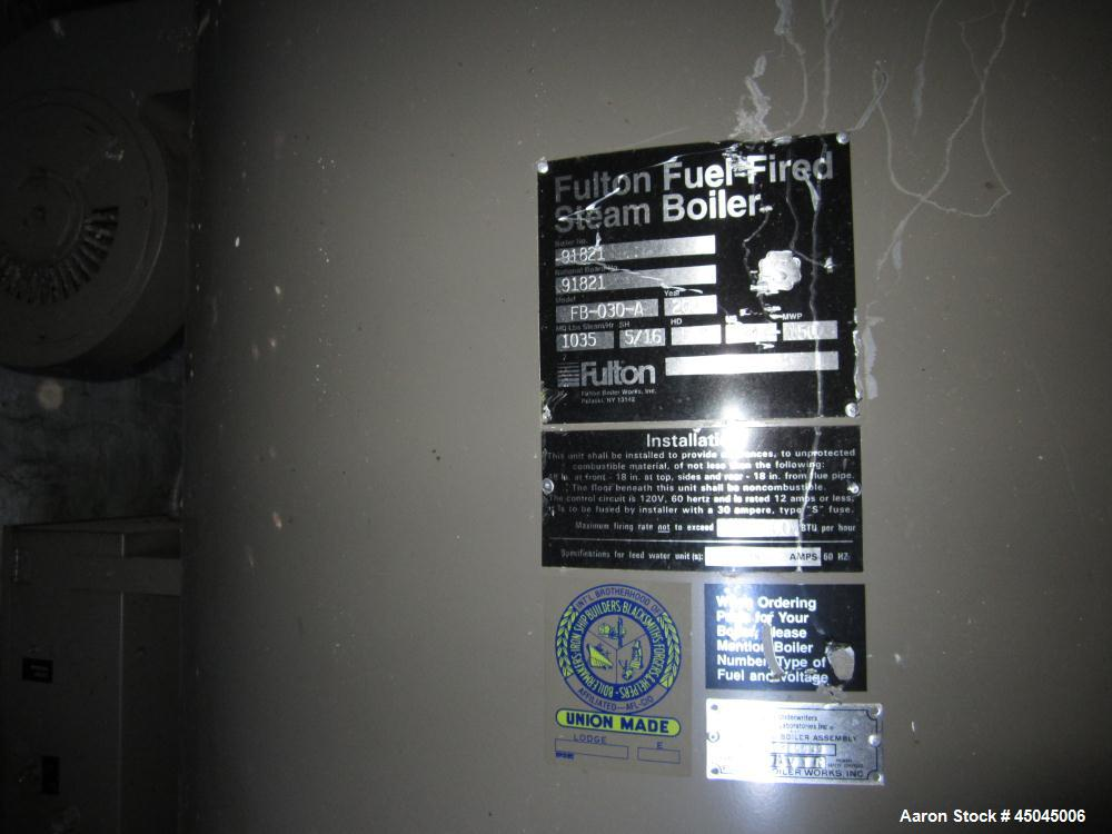 Used-Fulton Boiler, Model FB-030-A