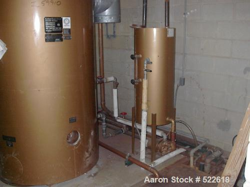USED: Fulton fuel fired steam boiler, model #FB-030-A, rated 150 psi. Year 1989. Has 892 hours of use since new in 1989. Has...