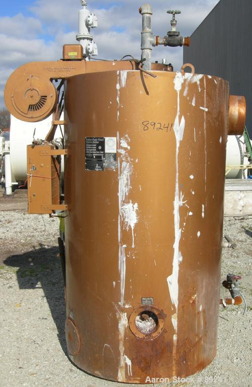 Used- Fulton Fuel Fired Steam Boiler, Model FB-030-A.