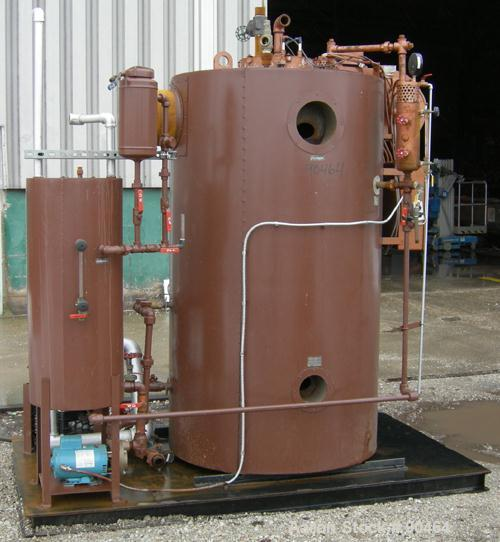 USED: Fulton Fuel Fired Steam Boiler, model FB-030-A, 30 hp, vertical design. Rated 1035 pounds of steam per hour, maximum w...