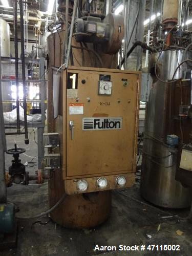 Used- Fulton Thermal Fluid Heater, Model FT-0520-A. 519 BTU/HR. 100 PSI. Built 1986.