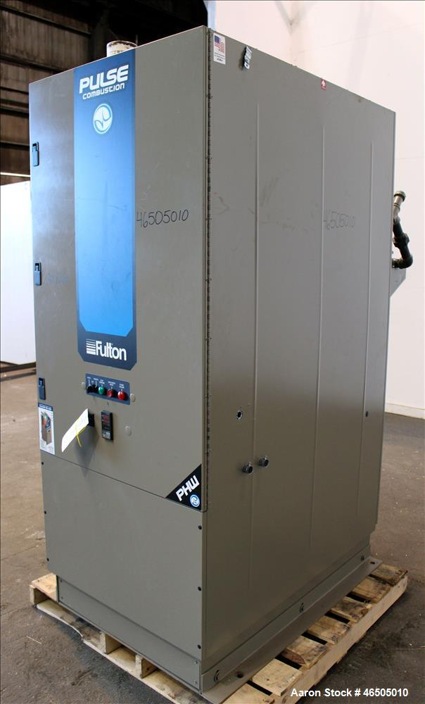 Used- Fulton PulsePak Combustion Hydronic Boiler, Model PHW-1400. 1,400,000 BTU/HR. Approximate 36 bhp, 160 psi working pres...