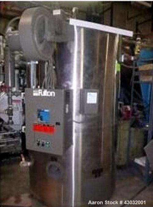 Used-Fulton Boiler, Model VMP 40, natural gas fired, 40 hp, MWP 150, 1380 MD Lbs steam/hr. Max BTUH 1595000, National Board ...