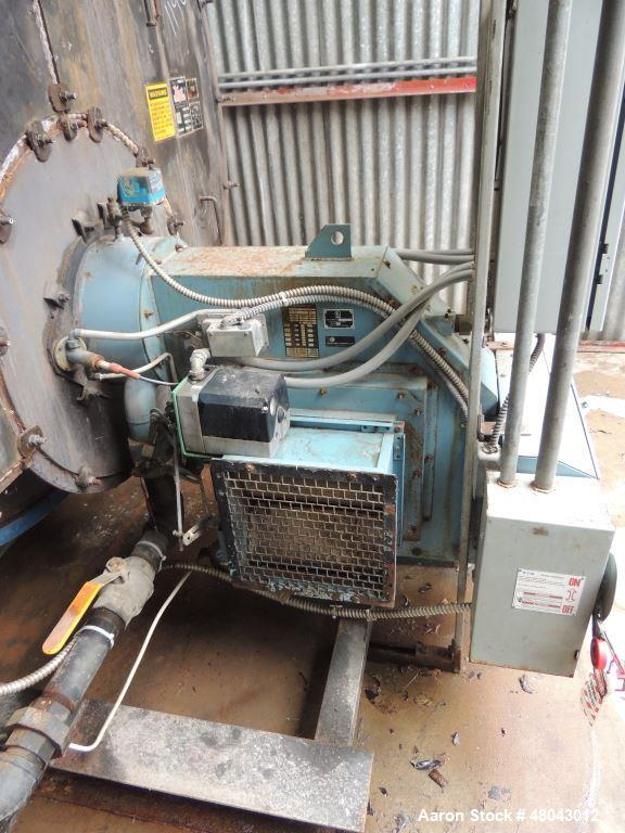 Used- Hurst Wet Back Scotch Boiler. Rated 200 psi. 8625 steam lbs/hr. Heating Surface area 1250 sq. ft. Serial #1250-200-7. ...